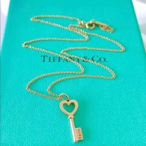 Tiffany & Co. Heart Key Pendant & chain